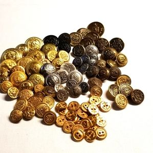 BUTTONS! Military Style- Lot of 103